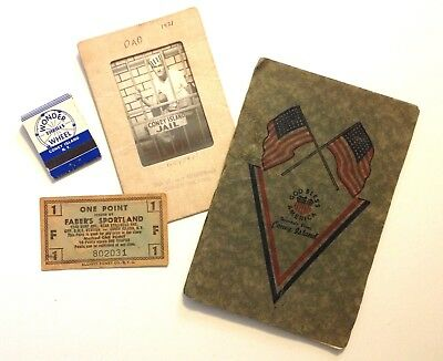 Coney Island lot Souvenirs Early 1921 -1960s? Sailers Photograph Collectables