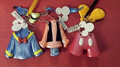 Disney Parks Goofy, Mickey, and Donald Christmas Ornament Outfits Lot of 3 NEW