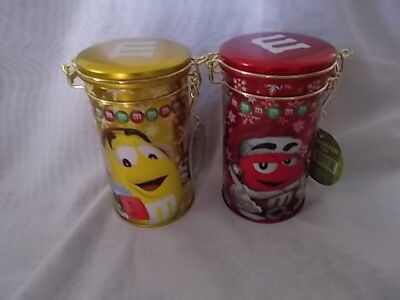 M&M Candy Tins Red & gold M&Ms Merry Christmas 2014 Clasp