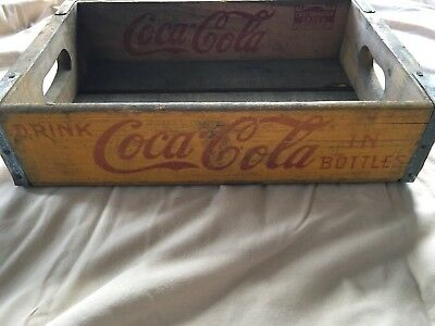 1958 Vintage Wooden Coca-Cola Crate Chattanooga Cases. Box & Lumber Co