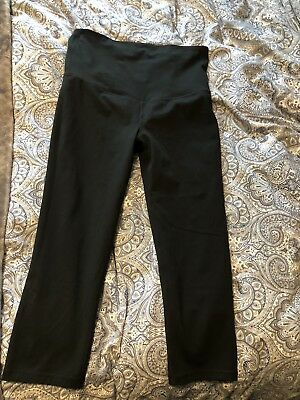 Gap Maternity GFast Blackout Full Panel Capris MEDIUM 455896