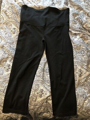 Gap Maternity GapFit Blackout Technology full panel capri pant Small Black
