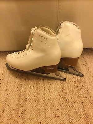 Edea Overture White Ice Skating Boots 250