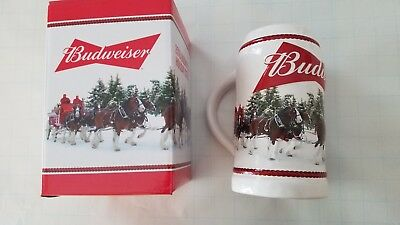 2016 Budweiser Holiday Stein Christmas Beer Mug Annual series Holiday Retreat