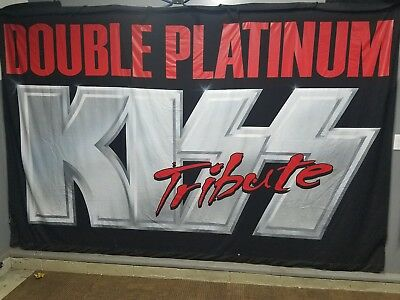 KISS Double Platinum Tribute Band Banner