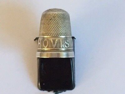 Antique Sterling Silver 'HOVIS Bread' Thimble Hallmarked H G & S 1914? (8)