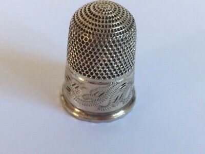 Antique Sterling Silver Henry Griffiths? Thimble Hallmarked Chester 1894? (5)