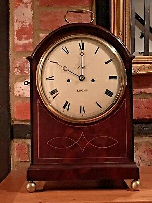 "Antique Pad Top Bracket Clock Double Fusee by ""Paul"" 'Cleavland' Street London"