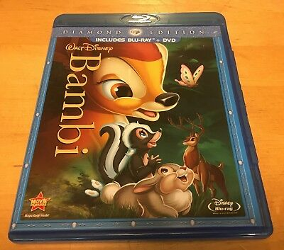 Walt Disney Bambi Blu-ray + DVD, 2011, 2-Disc Set, Diamond Edition