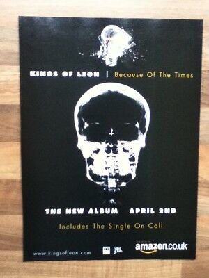 Kings Of Leon - Because Of The Times - Advert / Poster - 29.9.cm x 21.8cm