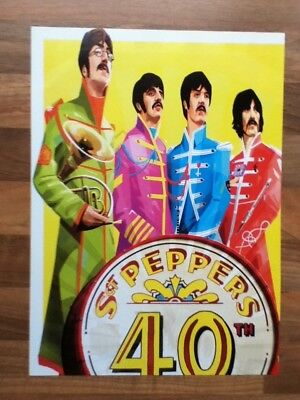 Beatles - Sgt Peppers 40th Anniversary poster / picture - 29.9cm x 21.7cm