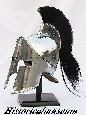 300 Medieval King Roman Leonidas Hy78W Spartan Helmet W/leather Cap Movie Helmet