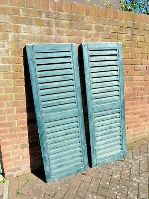 """Vintage reclaimed wooden shutters.  Each panel 5' x 21""""  Good solid condition !"""