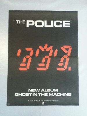 Police - Ghosts In The Machine - Poster / Advert - 37.3cm x 27.5cm
