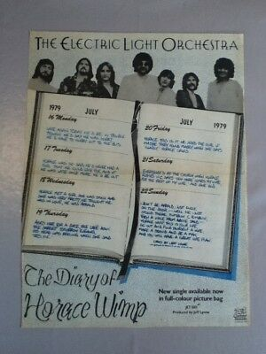 Electric Light Orchestra - Diary of Horace Wimp - Advert - 37.2cm x 27.6cm