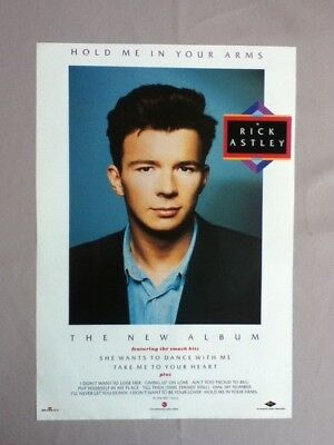 Rick Astley - Hold Me In Your Arms - Advert / Poster - 29.2cm x 20cm