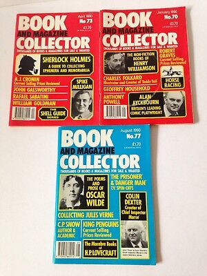 Book Magazine Collector Magazine 3 Issues 70, 73, 77 1990 Sherlock Holmes Morse
