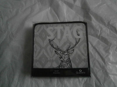 Churchill Queens Stag 4 coasters