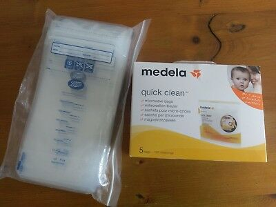Breast milk storage bags And Medela Quick Clean Bags