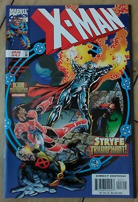 X-Man #47 1999 VF+ Marvel X-Men Comics Cable Blood Brothers Event Combined P&P