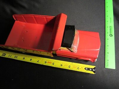 Vintage Jeep Toy Metal Dump Truck, Red, in very good condition