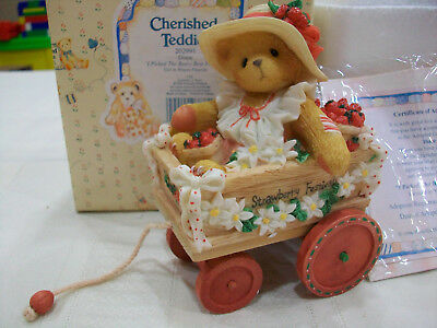 """1996 Vintage CHERISHED TEDDIES Diane """"I Picked The Beary Best  For You"""" Figurine"""