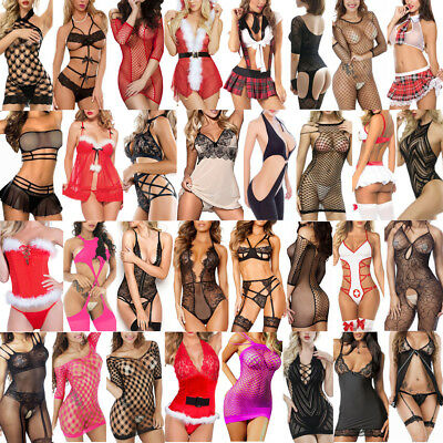 Lot Women Sexy Lingerie Lace Dress G-string Underwear Babydoll Sleepwear Sets