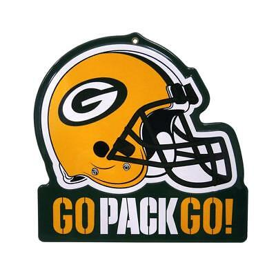 Green Bay Packers Metal Helmet Sign Die Cut  8x8 Sign FAST SHIPPING
