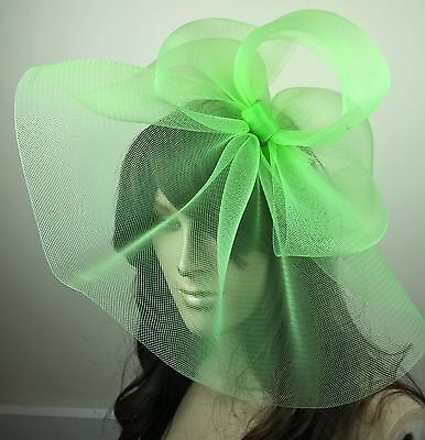 green fascinator millinery burlesque wedding hat hair piece ascot race bridal 1
