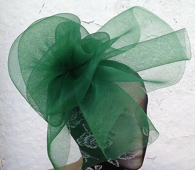 green fascinator millinery burlesque wedding hat ascot race bridal party hair