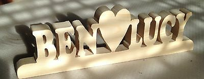 wood personalised name boyfriend girlfriend love birthday valentine gift present