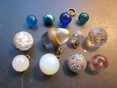 Vintage Antique Victorian Clothing Buttons Twelve Old Paperweights Rare
