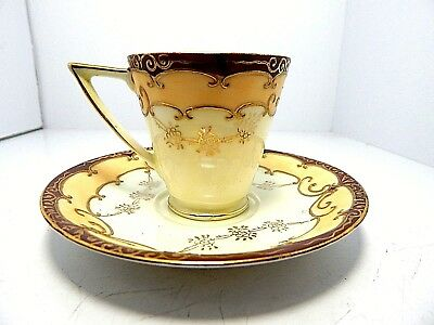 Ucagco China Made In Japan Hand Painted Demitasse Cup And Saucer