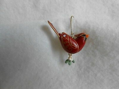 "Hallmark Northern Cardinal ""The Beauty of Birds"" Miniature Ornament 2009, No Box"