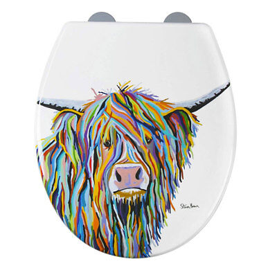 Croydex WL604022 Angus McCoo Art by Steven Brown FlexiFix Soft Close Toilet Seat