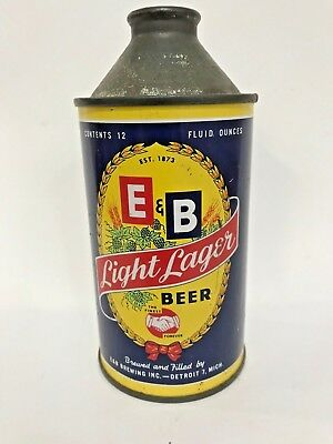 E&B Light Lager Cone Top beer can - Indoor