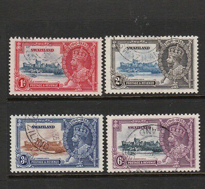 Swaziland 1935 King George V Silver Jubilee Complete Set Of Stamps