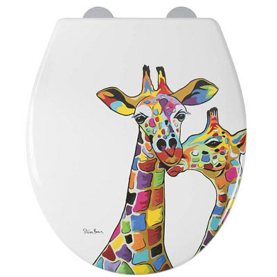 Croydex WL604122 Francie & Josie McZooArt Steven Brown Soft Close Toilet Seat