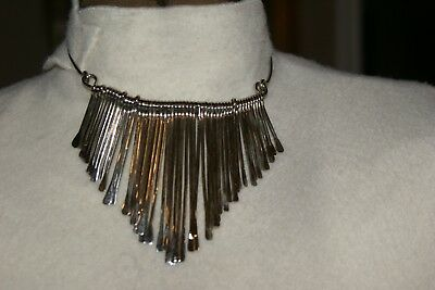 VINTAGE Choker Necklace with Dangles and Matching Earrings Very Old