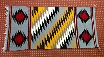 Navajo Rug by Faye Peterson, Eye Dazzler pattern, great colors, tight weave