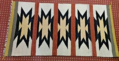 Navajo Rug by Daisy Cowboy, Eye Dazzler pattern, great colors, tight weave