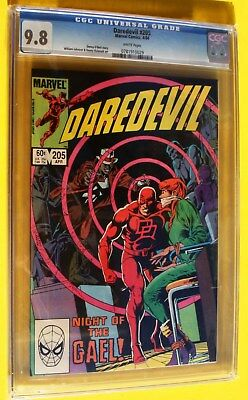 Daredevil #205 CGC 9.8 White Pages Great DD Art Cover! 1984.  More Listed!