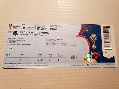 Used Ticket FIFA World Cup 18 #50 France Argentina Frankreich Argentinien Names