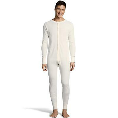 Hanes Men's Solid Waffle Knit Thermal Union Suit Long Underwear 125443