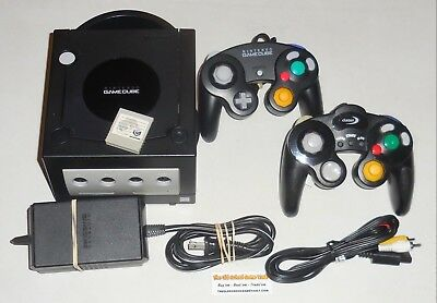 Nintendo GameCube, Black CONSOLE System Bundle with 2 Controllers + Hook Ups #1