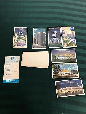 Lot of 7 greeting cards from 1964-1965 New York World's Fair With Envelopes
