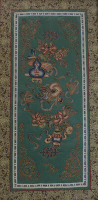 Antique Chinese Silk Embroidered Panel, framed. Stunning details, tiny stitches