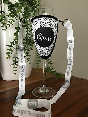 Cheers Speckles Champagne Glass Cooler With Lanyard Xmas Birthday Gift