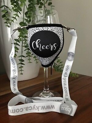 Cheers Speckled Wine Glass Cooler With Lanyard And Polycarb Glass Xmas Birthday