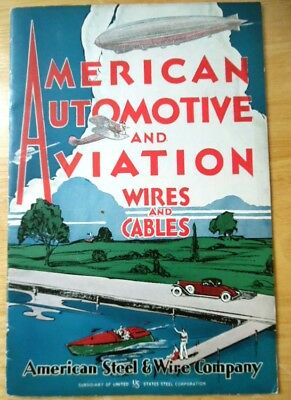 1931 AMERICAN AUTOMOTIVE and AVIATION Wires and Cables 20 pg catalog